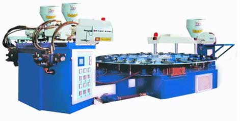 PVC injection moulding machine for PVC straps (Three colors)