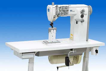 Post bed Double Needle Heavy-duty Sewing Machine